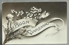 antica cartolina di buon compleanno scritta nel 1911