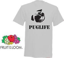 Pug La Vida-Novedad Stag Camiseta en una gama de colores-Texto En Blanco