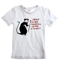 Banksy sono fuori dal letto e vestito Ratto Unisex Bambini T-Shirt-Tutte le Taglie