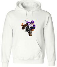 Nintendo Mario Kart Motorcycle Waluigi Video Game Hoodies Sweatshirt Pullover