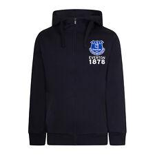 Everton FC - Sudadera oficial con capucha y cremallera - Hombre - Forro polar