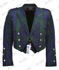 Prince Charlie Black Watch Tartan Kilt Jacket With Waistcoat/Vest - Sizes 36- 54