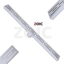 Zoic Bathroom Tile insert Invisible Linear Shower Floor Drain 31.49/35.43 inche