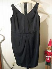 """WOMANS BLACK """"TRES JOLIE"""" FAILLE DRESS TALBOTS PLUS 14W 20W $179"""