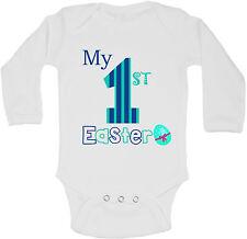 My First Pasqua Personalizzati Manica Lunga Bambino Body Body Per Bambino Bianco