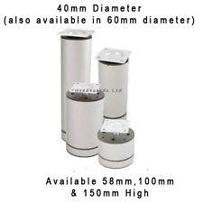 Cylinder Aluminium Furniture Feet/ Legs Ø40mm - Cabinet, Table, Bed, Sofa