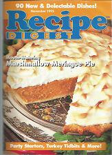Recipe Digest November 1995 Turkey Tidbits/Cream Puffs/Slow Cooker Favorites
