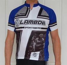 Cycling Bike short Sleeve Jersey Lambda Blue & Black M L XL XXL