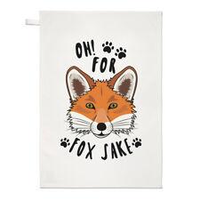 OH PER Fox Sake Strofinaccio piatto PANNO - Divertente Sake Scherzo Animale