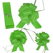 Boda floristería Pullbows Tire arco Pew Coche Cinta Tamaño de 18mm 30mm 50mm-Verde