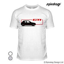 205 1.9 GTI T-Shirt Retrò 80s HOT Tratteggio Auto Da Rally T-shirt bianca classica T SHIRT
