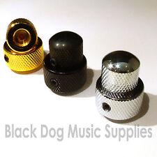 Dual guitar control knob  in chrome, black or gold 19mm tone or volume