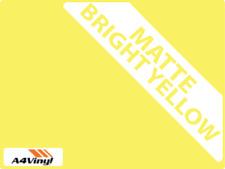 Yellow Matte Ceramic Wall Tile Sticker 6'' Transfers Kitchen Bathroom Multi Pk