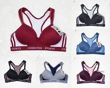 Jennifer 61012 Sports Activewear Yoga Workout Wire-Free Mesh Racerback Bras 6pk