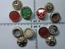 1 lotto bottoni gioiello smalti pietre perle murrine buttons boutons vintage g20