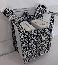 "Zebra Print Design Plastic T-Shirt Retail Shopping Bags Handles 11.5"" x 6"" x 21"""