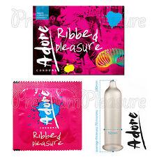 Pasante Adore Ribbed Pleasure condoms Many Ribs x 1-3-6-10-20-30-50-75-100 PCS