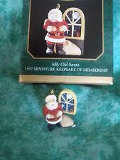 "Hallmark 1997 Miniature ""Jolly Old Santa"" ~Collector'S Club ~ Miob"