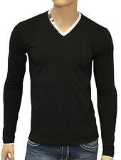 Maglietta Sweat Schwarz V-Shirt - Redbridge by Cipo & Baxx - Longsleeve S bis XL