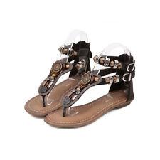 Sandali eleganti bassi infradito nero  leggeri comodi simil pelle  9930
