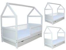Kinderbett Juniorbett Bett Haus 140 x 70 cm massiv weiss umbaubar