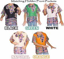 Mens Africa Print Dashiki Shirt 100% Cotton by American Dashiki
