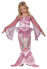 Meerjungfrau Kostüm Pink Magical Mermaid Kinder Kleid Mädchen Karneval , (K)