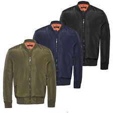 Mens Army MA1 Biker Bomber Military Fly Security Harrington Jacket Coat S M L XL
