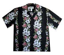 KY's Original Hawaiihemd Rosa Girlanden Schwarz