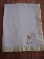 CUDDLE TIME White Yellow Arcylic GIRAFFE Blanket Lovey
