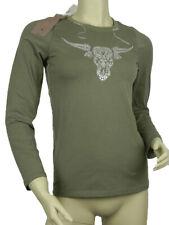 T-shirt Maglietta donna Anna David New York Tg. S M L XL Verde Toro Stretch New