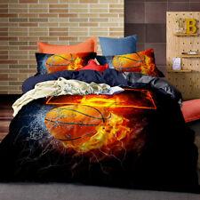 Fire Basketball Sport Quilt Doona Duvet Cover Set Queen King Single Size Bedding