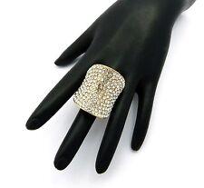 New Iced Out Rhinestone Designed Stretch Base Fashion Ring PR7001