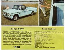 1970 Dodge D-200  Truck Refrigerator Magnet