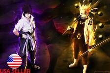"Naruto Sasuke Sharingan 36"" x 24"" Large Wall Poster Print Fan Art Gift"