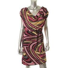 Alfani Multi Matte Jersey Cap Sleeves Knee Length Casual Dress - NEW