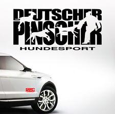 Auto Aufkleber DEUTSCHER PINSCHER HUNDESPORT Schutzdienst Hund Hunde SIVIWONDER