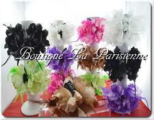 Haarkrebs Haarklammer Haarspange Haarblume Feder Haarblüte Braut Hochzeit 9Farbe