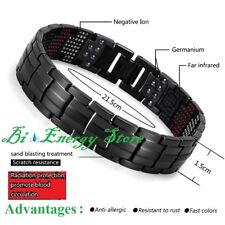 Energy Bracelet Black Health ION Stones Bio Armband Health TiTanium Bio Magnet