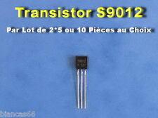 *** LOT AU CHOIX DE 2 / 5 OU 10 TRANSISTORS NPN 150MHZ - S9012 - NEUFS ***