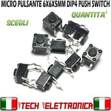 10 pz micro interruttore pulsante 4pin switch tattile 6x6x5 mm Arduino
