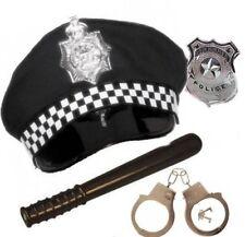 Adulto Policía Policía Disfraz Para Fiesta esposas Insignia Panda Sombrero Batton