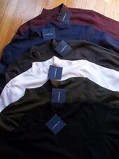 NWT  Mens 100% Cotton Croft & Barrow Mock Turtleneck L/S Shirt