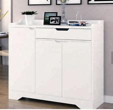 White Shoe Storage Cabinet Unit Cupboard Hallway Furniture Living Room Shoe Rack