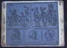 C232 Ancien tampon scolaire métal  LE SIECLE LUMIERE 19*14 cm