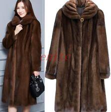 Plus Size Faux Fur Ladies Women Outwear Warm Coat Jacket long Parka Size S-6XL