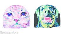 SPEEDO Silicone Hydro Dog Attack Cat Animal SWIMCAP Swimming Soft Pool 7510237
