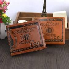 "US ""$100"" DOLLAR Bill Leather Bifold Wallet FOR MEN Cash ID Slots Card HOLDER US"