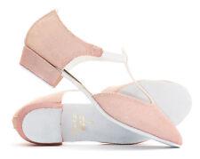 Damen Rosa Pfirsich Glitzer Tanz grichischer Sandalen Line Salsa Schuhe von Katz