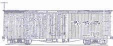 DENVER & RIO GRANDE 30' REEFER HOn3 Railroad Craftsman Wood Kit TC3030